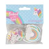 Unicorn & Rainbow Cupcake Picks