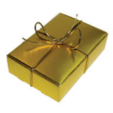 Gold Wedding Cake Box - Pack of 6