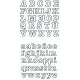 Patchwork Cutter & Embosser Alphabet Tubby