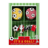 """""""It's a Goal"""" Cupcake Case and Topper Kit"""