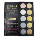Sweet Sticks Edibleart Water Activated Paint Gold & Silver Palette 55g