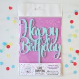 Sweet Stamp Cake Toppers - Funky Happy Birthday