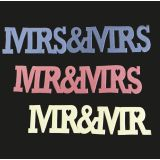 FMM Cutters Curved Words Mr & Mrs