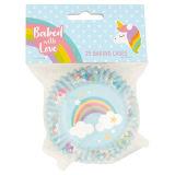 Unicorn & Rainbow Baking Cases 25 Cases