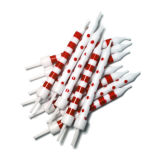 Stripe & Spot Candles Pack of 12 - Red & White