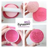 Sweet Stamp OUTboss Expressions Hearts Happy Birthday