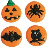 Halloween Button Sugar Pipings Pack 12
