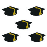 Mortarboard Sugarcraft Toppers Pack of 5