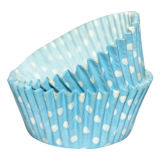 SK Cupcake Cases Dotty Blue Pack of 36