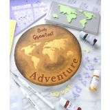 Sweet Stamp World Map Embossing Elements
