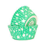 SK Cupcake Cases Star Emerald Green Pack of 36