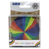 PME Rainbow Colours Foil Lined Baking Cases Pack of 30