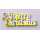 Gold Plastic Merry Christmas Motto