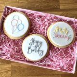 LissieLou Happy Birthday Set of 3 Cookie Embossers