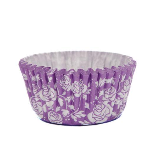 SK Cupcake Cases Rose Royal Purple Pack of 36