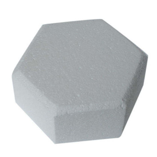 Hexagonal Chamfered Edged Cake Dummy - 8 Inch