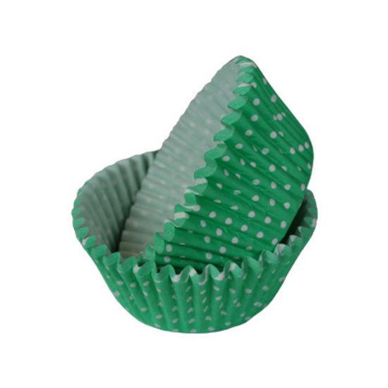 SK Cupcake Cases Polka Dot Bright Jade - Bulk Pack of 360