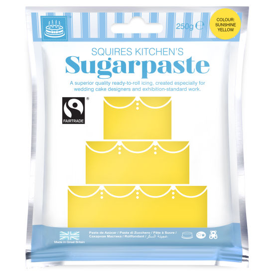 SK Fairtrade Sugarpaste Sunshine Yellow 250g
