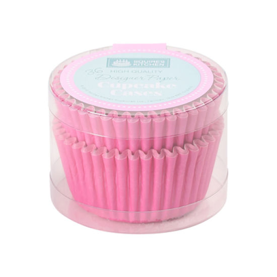 SK Cupcake Cases Colour Block Deep Pink Pack of 36