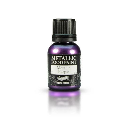 Rainbow Dust Metallic Food Paint - Metallic Purple 25ml