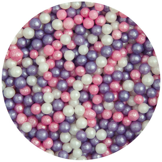 Scrumptious Sugar 4mm Pearls Ice Pink Mix 80g
