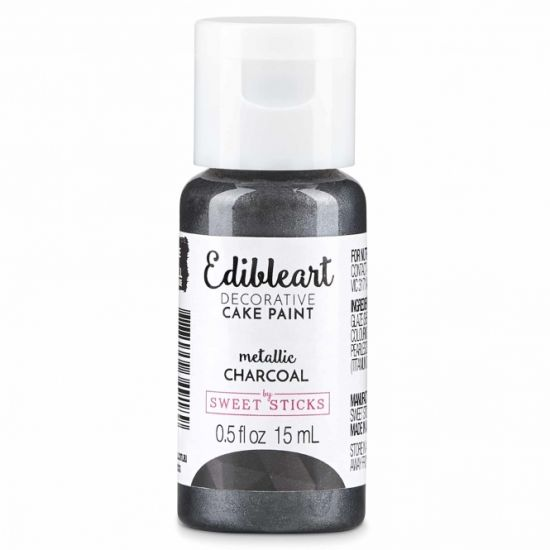 Sweet Sticks Edibleart Metallic Paint Charcoal 15ml