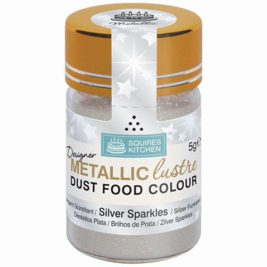SK Designer Metallic Lustre Dust Silver Sparkles 5g