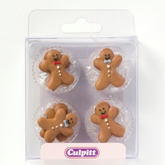Gingerbread Man Sugar Decorations set of 12