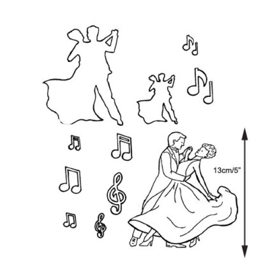 Patchwork Cutter & Embosser Dancing Figures
