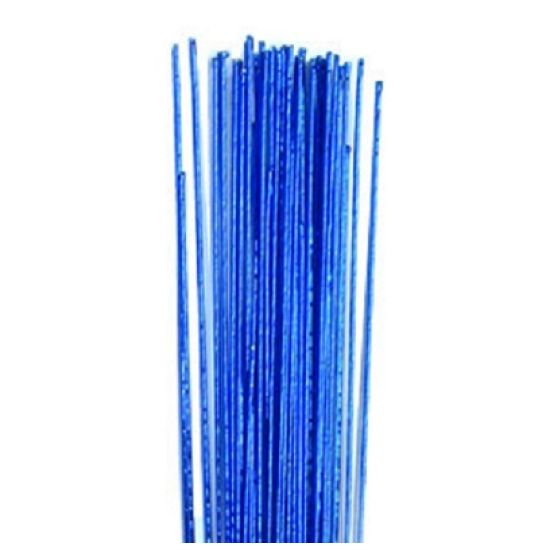 Hamilworth Metallic Floral Wires - Bright Blue