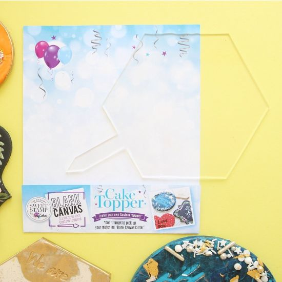Sweet Stamp Blank Canvas Hexagon Blank Topper
