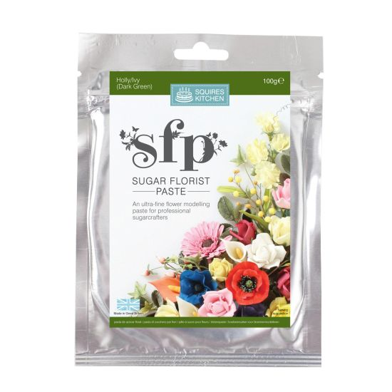 SK SFP Sugar Florist Paste Holly/Ivy (Dark Green) 100g