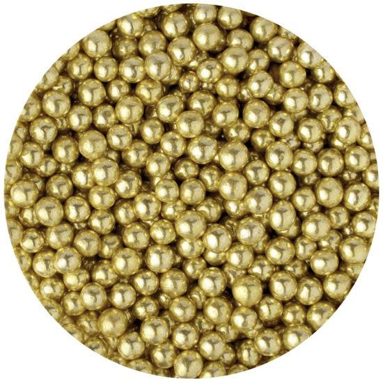 Scrumptious Sugar 4mm Pearls Gold 80g