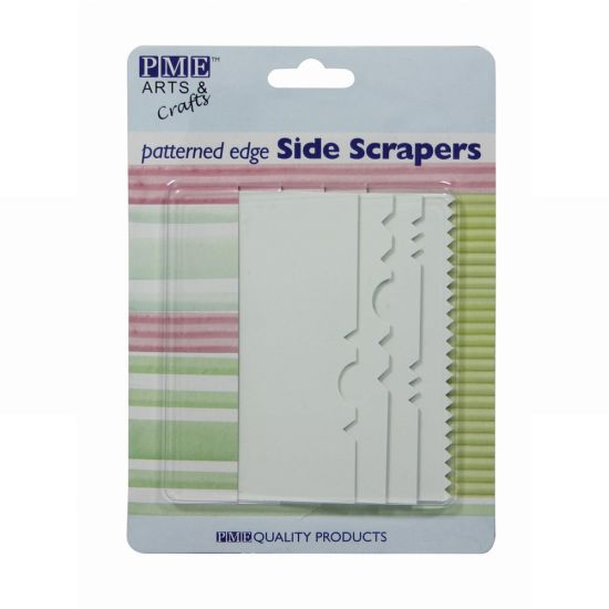 PME Patterned Edge Plastic Side Scrapers Set of 4