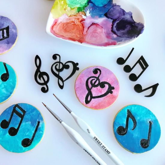 Sweet Stamp Music Note Embossing Elements