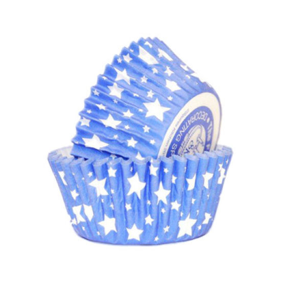 SK Cupcake Cases Star Sapphire Blue Pack of 36