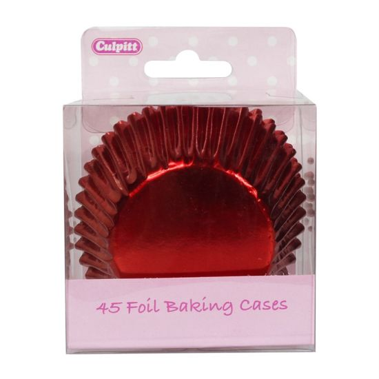 Red Foil Cupcake Cases Pack of 45