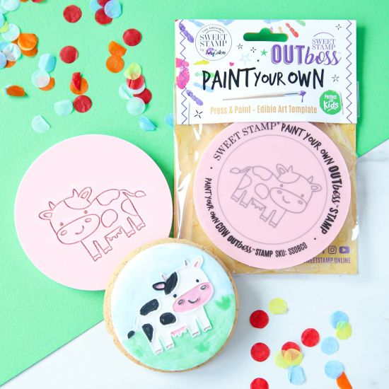 Sweet Stamp OUTboss Paint Your Own - Cow