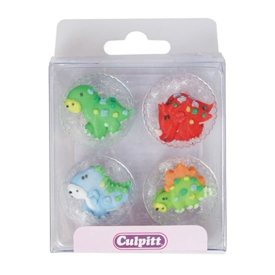 Dinosaurs Sugar Decorations set of 12