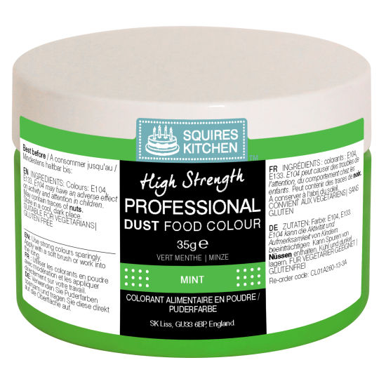 SK Professional Food Colour Dust Mint (Xmas Green) 35g