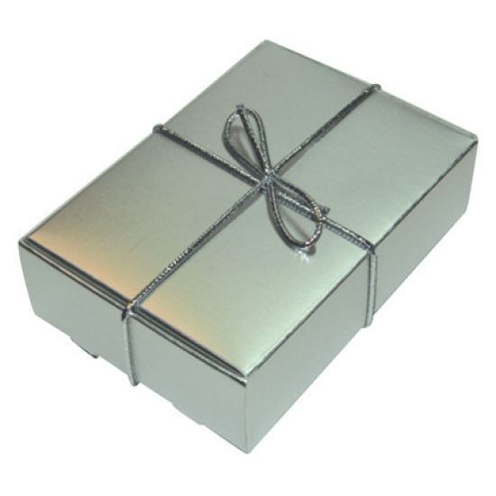 Silver Wedding Cake Box - Pack of 6