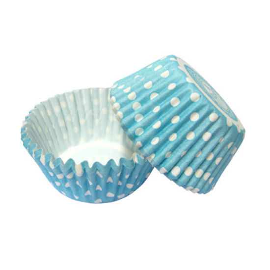 SK Cupcake Cases Spring Dotty Blue Pack of 36