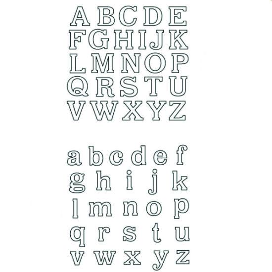 Patchwork Cutter & Embosser Classic Alphabet