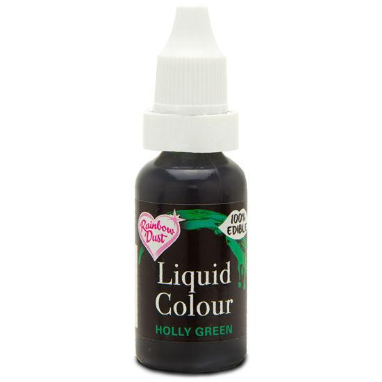 Rainbow Dust Liquid Colour - Holly Green 19g