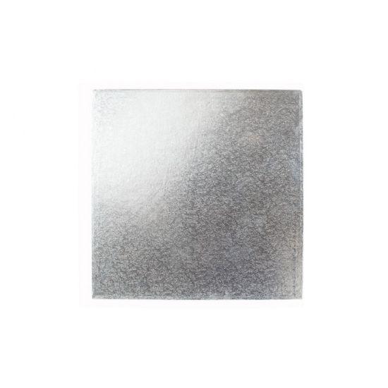 Silver Cut Edge Card Square 4 Inch