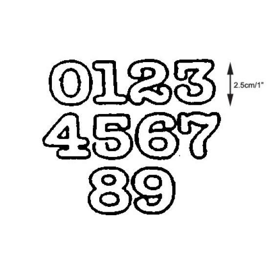 Patchwork Cutter & Embosser Numerals large