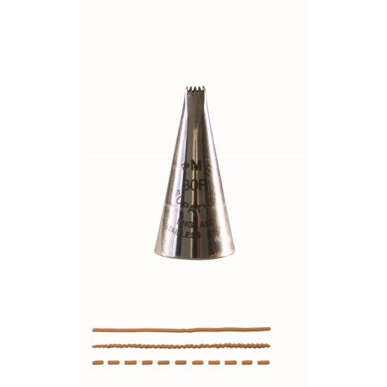 PME Ribbon Piping Nozzle No. 30R (Ribbed)