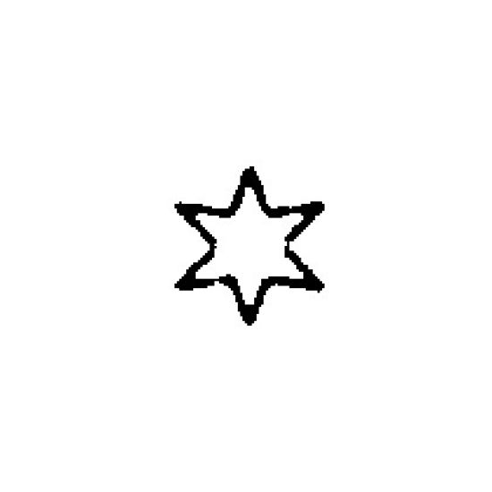 "Star Shape Crimper Plain Edge 19mm (3/4"")"