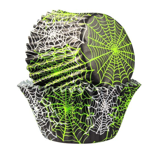 Spiderweb Foil Lined Cupcake Cases - Pack of 25