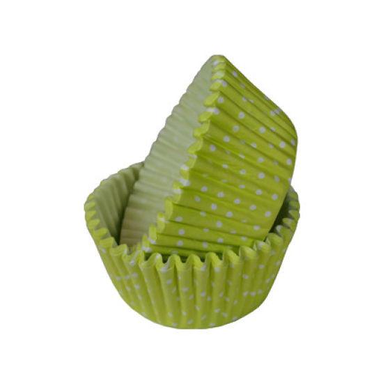 SK Cupcake Cases Polka Dot Lemon Yellow Pack of 36